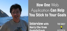 How One Web Application Can Help You Stick to Your Goals with Harry Che from GoalsOnTrack [TDI076]