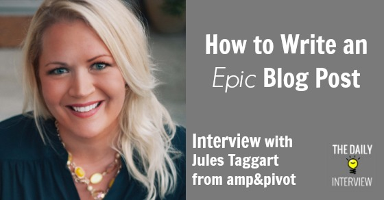 How to Write an Epic Blog Post
